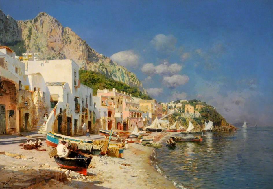 Rubens Santoro, Capry, Italy, Kapri, Italija, more, marina, čamac na obali