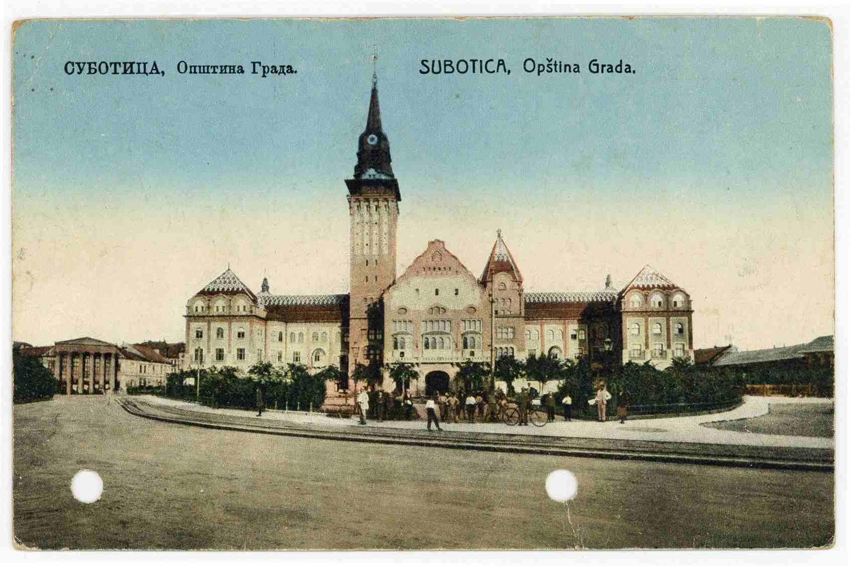 stara razglednica Subotice, opština grada Subotice,